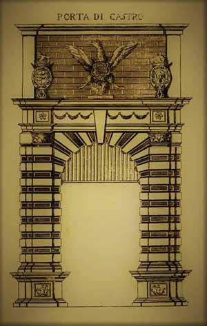 stampa antica porta di castro